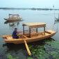 江東造船廠家直銷景區旅游手劃船,單蓬手劃船圖片
