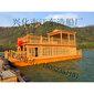 厂家出售水上可以吃饭的船边吃边玩的游船图片
