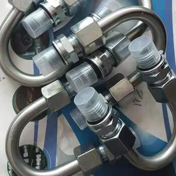 合河批发定制液压钢管折弯总成液压弯管卡套钢管