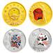 生肖金銀幣回收丨彩金紀念幣回收丨梅花形紀念章回收,金幣收購
