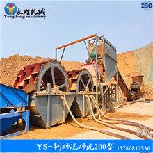 轮式洗砂机风化砂制砂洗砂设备挖斗洗沙机YS-200型制砂洗砂机图片
