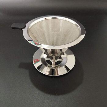不锈钢咖啡过滤网锥形漏斗手冲咖啡好帮手�免滤纸