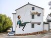 雙噴頭新農村街道文化墻繪畫機噴繪機墻體彩繪機打印機設備