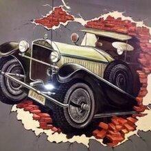江榕彩业墙体3d彩绘打印机立式户外墙壁广告背景墙UV喷绘画机图片