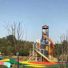 非标定制户外不锈钢滑梯淘气堡儿童乐园设备公园景观组合滑梯图片