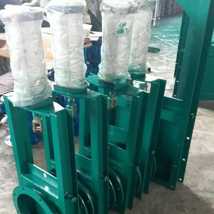 气动插板阀直径400物料卸料阀气动电动按需定做