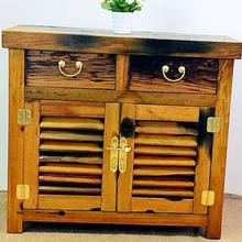 三亞實木抽屜餐具柜定做圖片