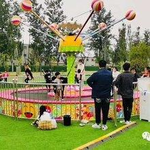 广场上比较火的儿童蹦床升级版游乐设备糖果飞人蹦床图片