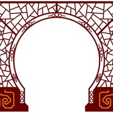 优游注册平台做垂花门落地罩的、实木垂花门、优游注册平台饰拱门、雕花镂优游注册平台落地罩图片