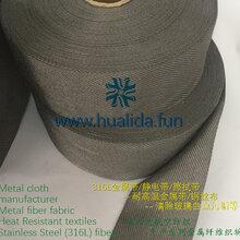 纯不锈钢纤维,316L金属织物,不锈钢纤维布,耐高温金属线图片