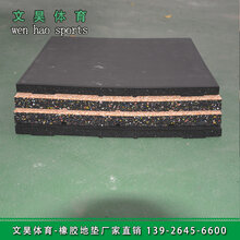 深圳健身房室内橡胶地垫安装规格文昊体育橡胶地垫批发图片