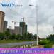 泉港区主干路10米自弯型路灯杆规格,操场7米照明灯杆款式