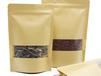 牛皮紙自立自封袋開窗牛皮紙袋堅果茶葉食品包裝袋干果袋