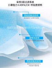 民用一次性口罩防细菌防尘透气挂耳式三层无纺布口罩现货图片