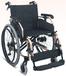厂家直销加厚铝合金老人轮椅折叠轻便轮椅