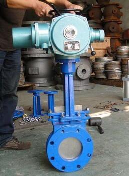 PZ973W-10NR耐高溫電動灰閘閥、高溫刀型灰渣閥