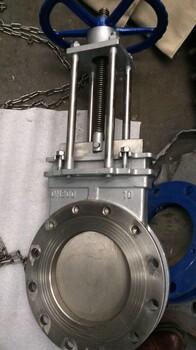 PZ73W-10P手動不銹鋼刀閘閥、不銹鋼插板閥
