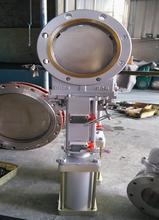 PZ673H气动刀型闸阀、气动浆料阀、气动浆液阀图片