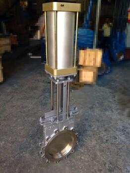 PZ673X-10C明桿刀閘閥、氣動漿閘閥、鑄鋼刀型閘閥