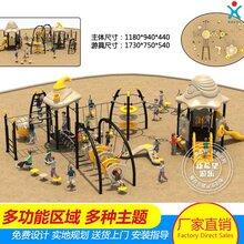 户外非标定制厂家广场公园非标游乐设备组合滑梯绳网攀爬图片