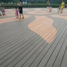 明太塑木地板安装,临沂生产14025圆孔塑木地板图片