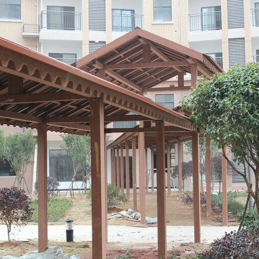 淮陰區塑木景觀廊架廠家,塑木景觀廊架