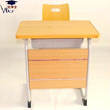 法式培訓班輔導班課桌椅固定式學生課桌椅定制批發生產廠家