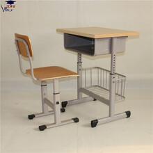 河北橢圓管升降課桌椅可調節學生課桌椅定制批發廠家