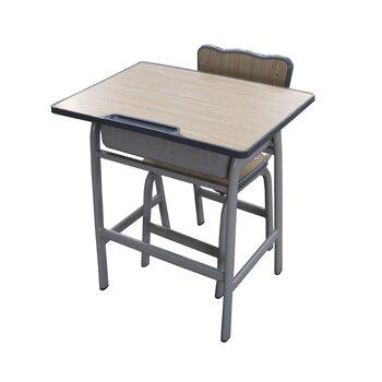 單人固定式學生課桌椅定制款輔導培訓班課桌椅定制廠家批發