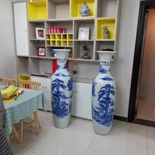西安開業大花瓶廠家銷售《清明上河圖》青花瓷大花瓶圖片