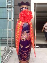西安校慶大花瓶擺件,青花山水花瓶庫房,紅瓷中國風花瓶擺件圖片