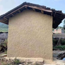 山西朔州田园生态稻草泥墙面做法工艺图片