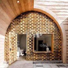 河南洛阳仿古水泥基黄泥墙面夯土墙外墙装饰材料图片