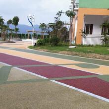 上海金山彩色透水混凝土材料生产施工图片