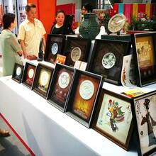 西安財神皮影相框桌擺彩色西安皮影工藝品西安皮影瓦當禮品圖片