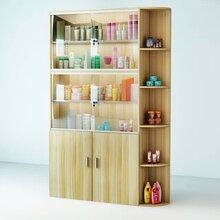 溫州化妝品店內展示柜開放立式層板柜