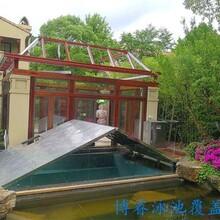 博睿自動折疊式游泳池蓋別墅泳池蓋電動池蓋廠家定制