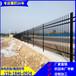 東方直銷小區鐵藝柵欄藍色雙彎頭護欄五指山學校防爬護欄
