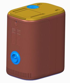 G系列组装图制氧机壳体模具,输氧管接头模具