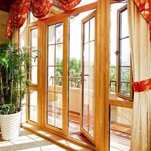 同仁县铝木复合门窗施工�技术图片
