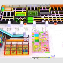 大型网红健身弹跳超级蹦床公园淘气堡儿童乐园游乐设备定制图片