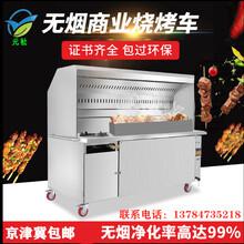 2米商務款無煙燒烤車圖片