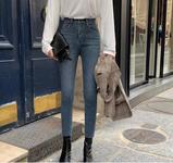 便宜女裝牛仔褲新款彈力小腳褲庫存牛仔褲便宜高腰休閑褲