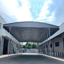 篮球场推拉雨棚,移动仓库帐篷图片