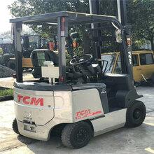 出售二手电动叉车TCM1.5吨2吨3吨电瓶叉车价格优惠图片