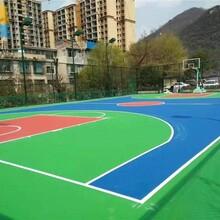 江西硅PU篮球场厂家直销图片
