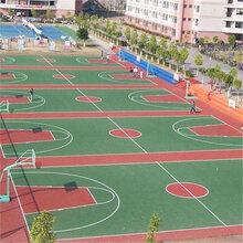 江苏硅PU篮球场厂家施工图片