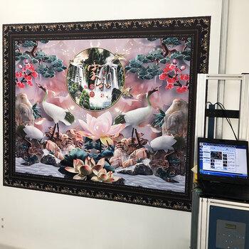 弘彩智能3d墻體彩繪機uv打印機立體大型壁畫噴繪機墻體繪畫機