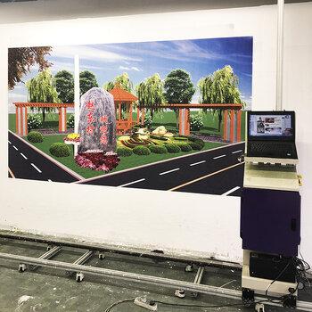 5D墻體彩繪機壁畫大型背景墻廣告墻體噴繪機戶外宣傳墻體打印機