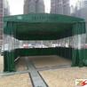 杭州推拉雨蓬厂家仓库帐篷大排档烧烤雨棚